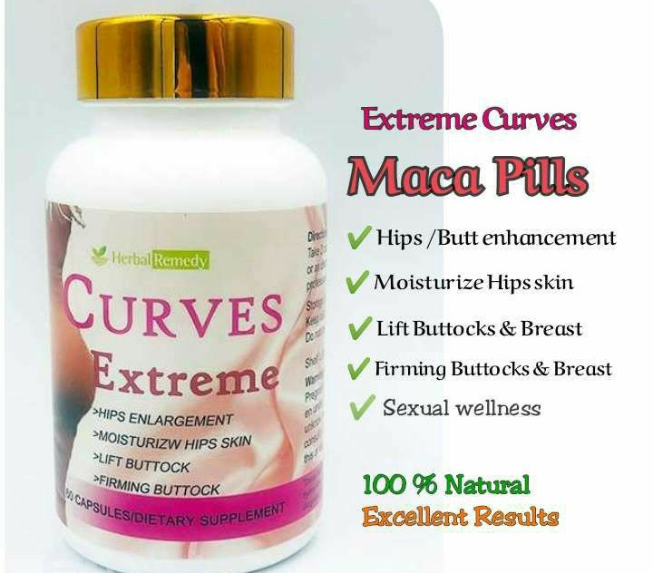 Curves Extreme Herbal Remedy Butt Enlargement Maca Capsule